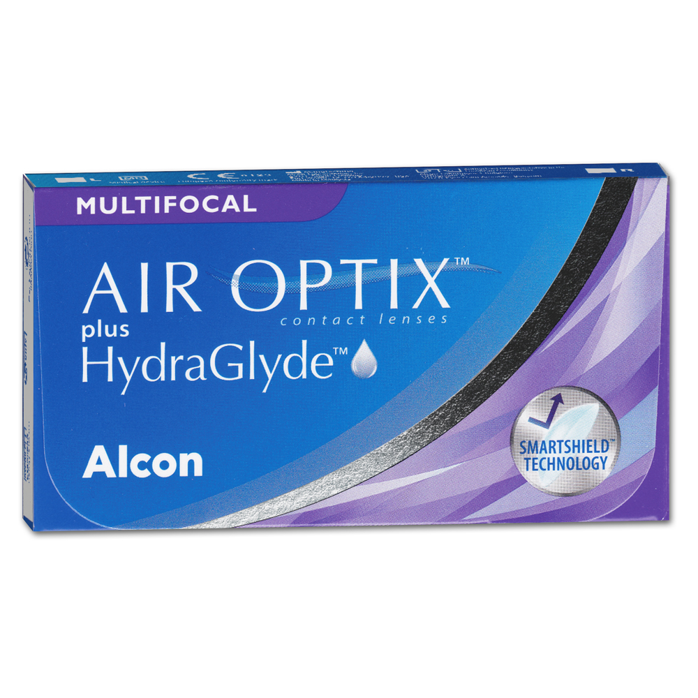 AIR OPTIX plus HydraGlyde Multifocal | 6er Box | Addition LO(MAX ADD+1,25)